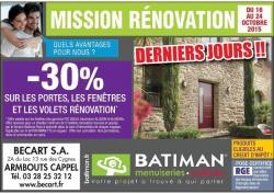 operation rénovation 2015 du 16 au 26 octobre