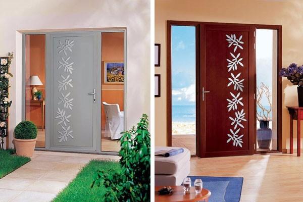 Porte d 39 entr e de maison bois aluminium et pvc lille gravelines - Porte de maison moderne ...